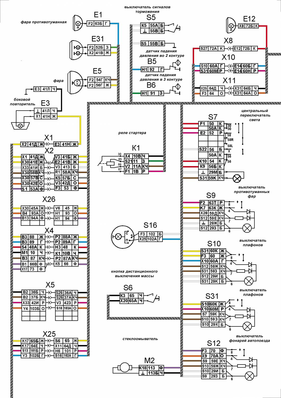 Электрическая схема камаз 5320 с описанием