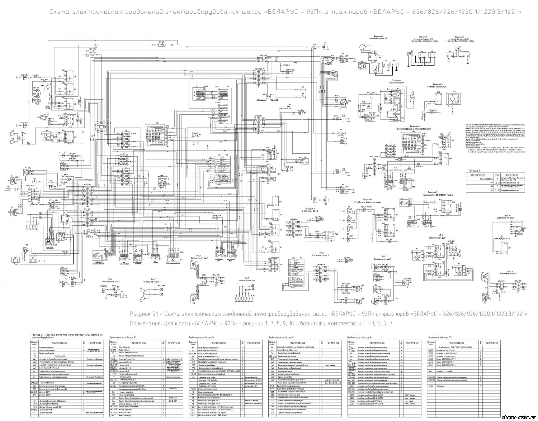 Схема электрооборудования трактора беларусь